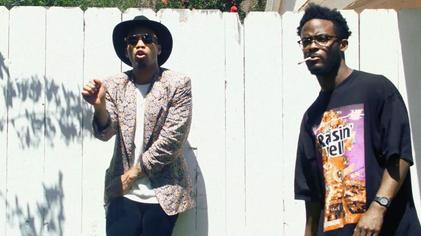 """Anderson .Paak and Knxwledgeof NxWorries appear in a scene from theirnew video, """"Suede"""